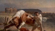 """El poder de la contención: """"Ian Usmovets deteniendo a un toro furioso"""""""