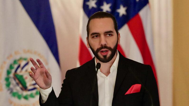 En la imagen un registro del presidente de El Salvador, Nayib Bukele. (EFE/Rodrigo Sura/Archivo)