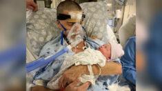 Hombre cumple su último deseo de tener a su hijo recién nacido en brazos y muere al día siguiente