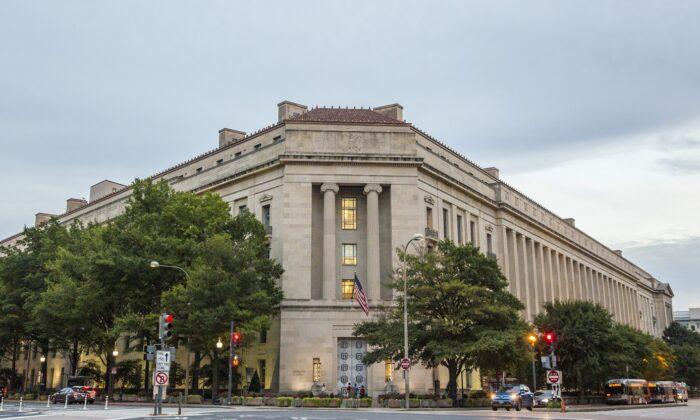 Departamento de Justicia en Washington el 22 de septiembre de 2017. (Samira Bouaou/The Epoch Times)