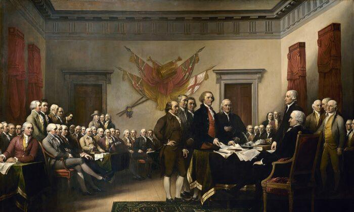 """""""Declaración de Independencia"""" (1819) por John Trumbull. (Dominio público)"""