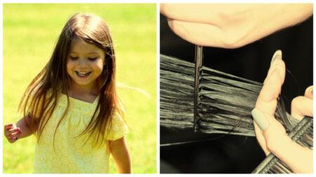 """Niña de 4 años dona su cabello para los niños con cáncer: """"los vamos a ayudar, ¿verdad mamá?"""""""