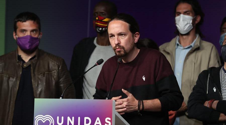 Pablo Iglesias dimite de todos sus cargos tras fracaso de la izquierda en Madrid