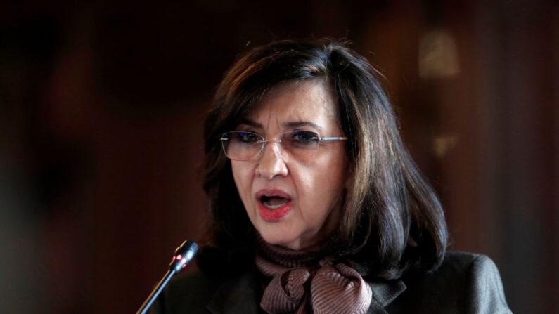 La ministra de Asuntos Exteriores de Colombia, Claudia Blum, foto tomada el 26 de febrero de 202 en el Palacio de San Carlos, Colombia. (Daniel Munoz/AFP vía Getty Images)