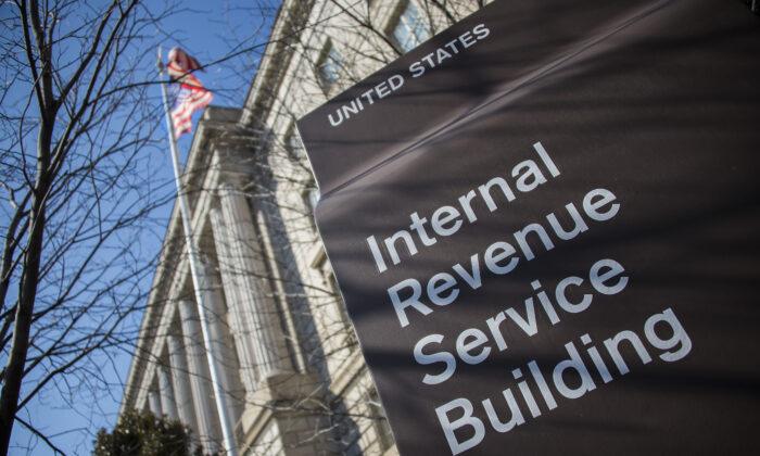 El edificio del Servicio de Impuestos Internos (IRS) en Washington, el 19 de febrero de 2014. (Jim Watson/AFP/Getty Images)
