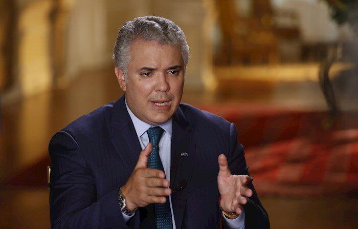 El presidente de Colombia, Iván Duque, habla durante una entrevista con Efe en el Palacio de Nariño el 19 de abril de 2021 en Bogotá (Colombia). EFE/ Mauricio Dueñas Castañeda/Archivo