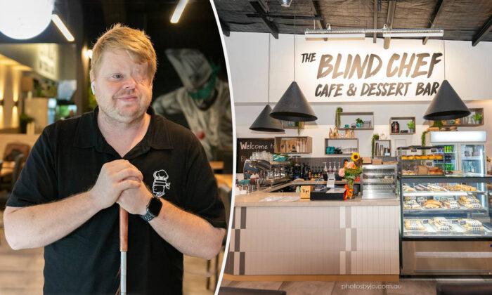 Chef ciego abre cafetería tras perder la vista y su trabajo por un cáncer: ¡Nada lo detiene!
