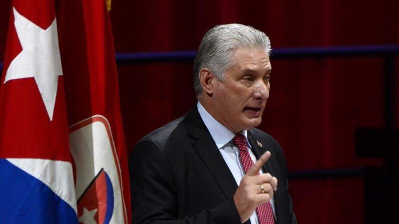 El líder de Cuba Miguel Díaz-Canel. EFE/ACN/ Ariel Ley Royero/Archivo