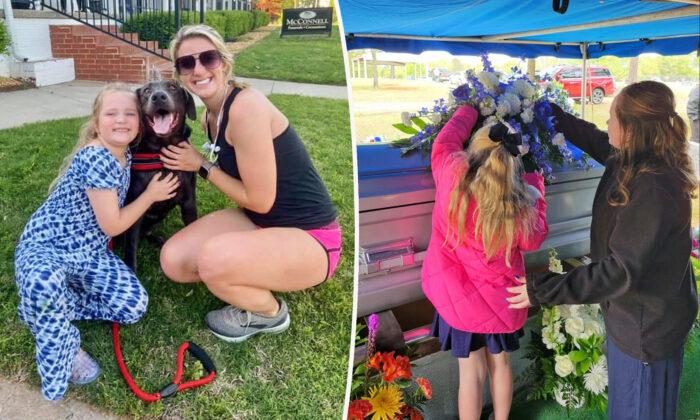 Corredora y su perro se detienen a consolar a niña en funeral de su padre, ahora son amigas inseparables