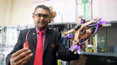 Investigador de Malasia presenta primer dron ecológico hecho con piezas de residuos de hojas de piña