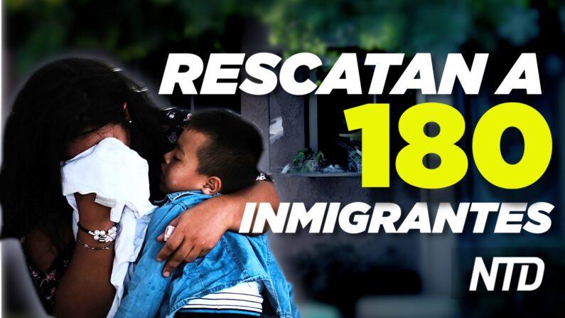 NTD Noticias: Texas: Rescatan a 180 inmigrantes ilegales; DeSantis promulga importante ley. (NTD Noticias/NTD en Español)