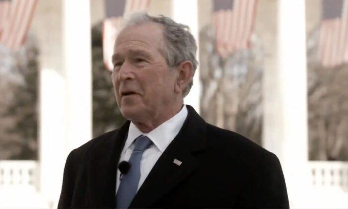 El expresidente George W. Bush habla durante el Celebrating America Primetime Special el 20 de enero de 2021. (Distribución/Comité Inaugural de Biden a través de Getty Images)