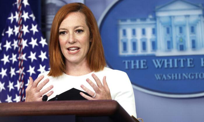 Jen Psaki dice que su equipo le dice a Biden que no responda a las preguntas de los periodistas