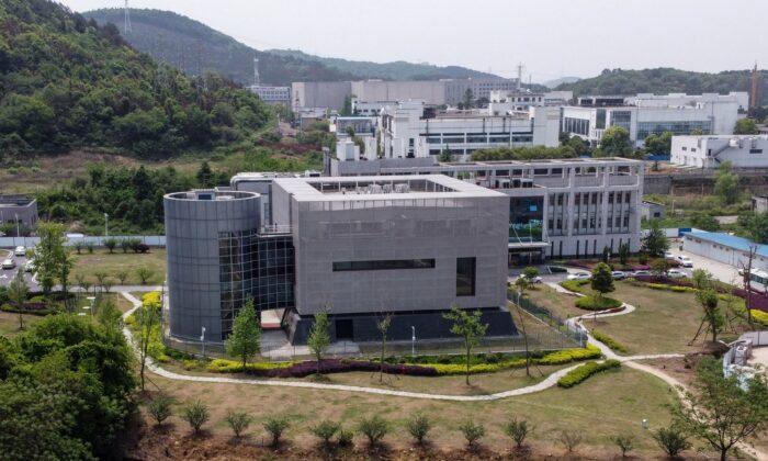 Una vista aérea muestra el laboratorio P4 en el Instituto de Virología de Wuhan (China) el 17 de abril de 2020. (Hector Retamal/AFP vía Getty Images)