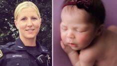 Policía salva la vida de una bebé de 9 días que dejó de respirar