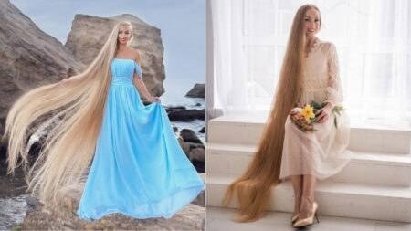 """""""Rapunzel"""" ucraniana dice que su cabellera de casi 2 metros de largo es """"la manifestación"""" de su alma"""
