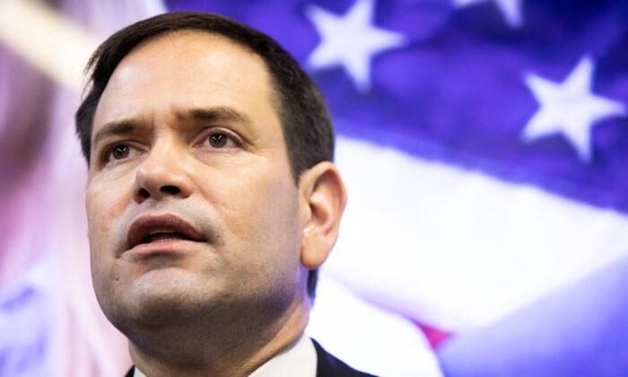El senador Marco Rubio (R-Fla.) habla durante un evento de campaña en Marietta (Georgia) el 11 de noviembre de 2020. (Jessica McGowan/Getty Images)