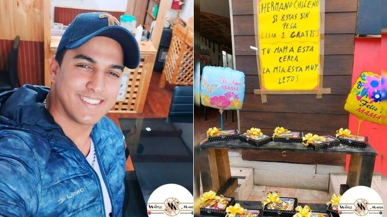 """Venezolano en Chile da regalos gratis del Día de la Madre: """"Tu mamá está cerca, la mía muy lejos"""""""