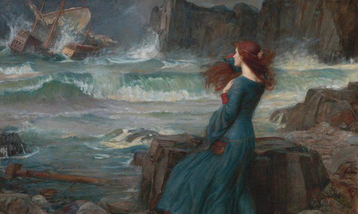 """El misterio y el asombro están en la raíz misma de la existencia humana. """"Miranda"""", 1916, de John William Waterhouse. Óleo sobre lienzo. (Dominio público)"""