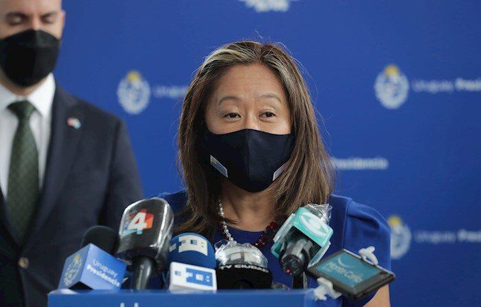 La subsecretaria interina para el hemisferio occidental de Estados Unidos, Julie Chung. (EFE/Raúl Martínez/Archivo)