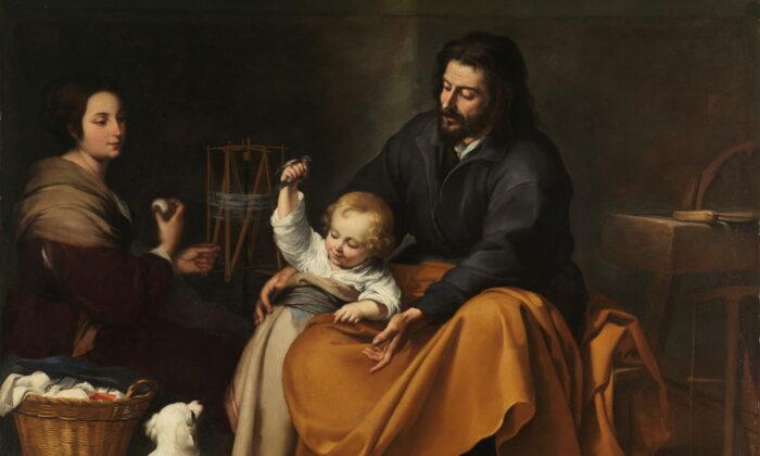 Odas a los padres, cortesía del artista barroco Bartolomé Esteban Murillo