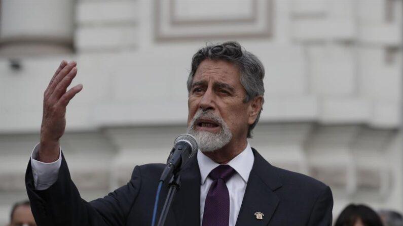 En la imagen, el presidente de Perú, Francisco Sagasti. EFE/Paolo Aguilar/Archivo