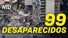 NTD Noticias: 99 personas desaparecidas tras derrumbe en Miami; Texas demanda a Biden por liberar inmigrantes