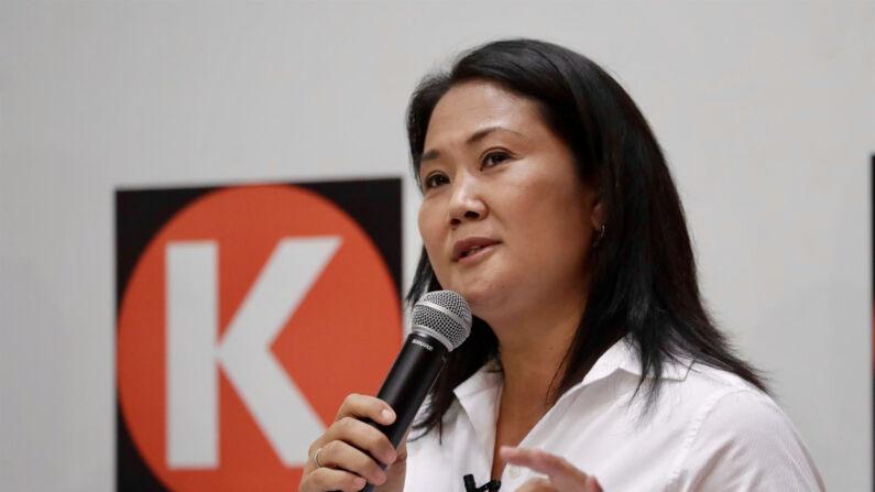 La candidata a la presidencia de Perú, Keiko Fujimori, habla durante una rueda de prensa el 14 de abril en Lima, Perú. (EFE/Paolo Aguilar/Archivo)