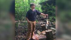 Joven leñador que ha cortado madera desde los 6 años, inicia su propio negocio de venta de leña