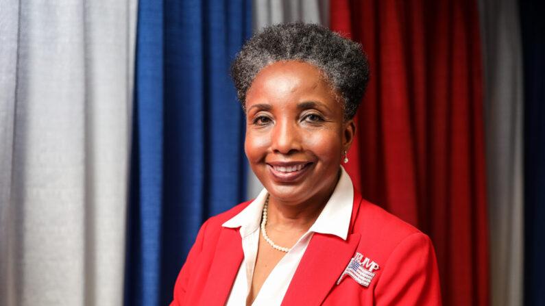 Carol Miller Swain, analista y escritora conservadora, en la cumbre Values Voter en Washington el 11 de octubre de 2019. (Samira Bouaou/The Epoch Times)