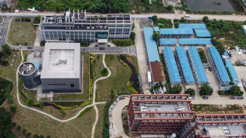El laboratorio P4 en el campus del Instituto de Virología de Wuhan en Wuhan, en la provincia central de Hubei de China, el 27 de mayo de 2020. (Hector Retamal/AFP a través de Getty Images)