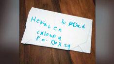 """Niña escribe carta a su difunto padre dirigida al """"cielo, nube 9"""" y recibe una respuesta inesperada"""