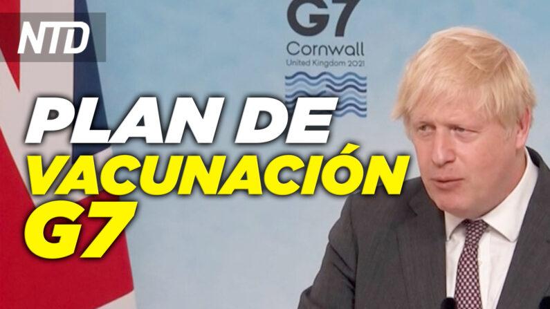 Reacciones al plan de vacunación del G7; Líderes del G7 ofrecen alternativa a la Franja y la Ruta|NTD noticiero en español