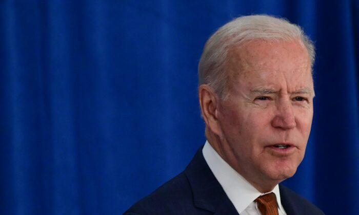 El presidente Joe Biden habla en el Centro de Convenciones de Rehoboth Beach en Rehoboth Beach, Delaware, el 4 de junio de 2021. (Jim Watson/AFP vía Getty Images)