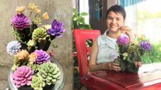 Flores y suculentas de arcilla increíblemente elaboradas parecen demasiado reales para ser falsas