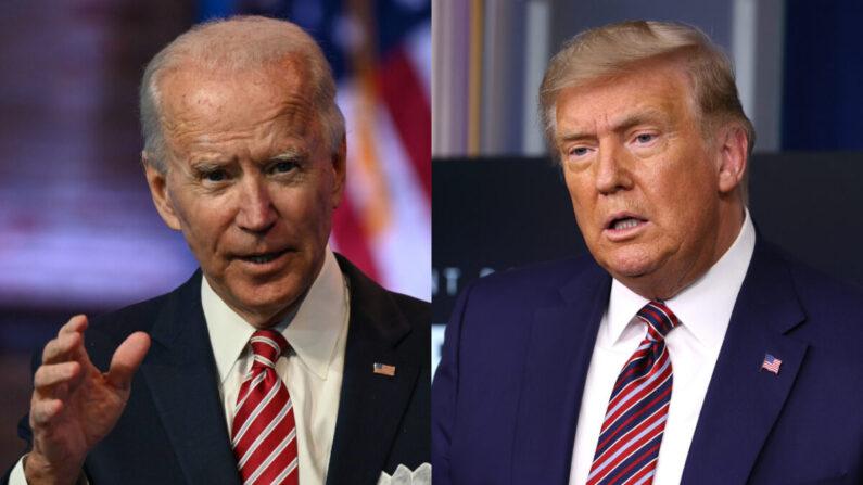 El presidente Joe Biden y el entonces presidente Donald Trump en fotografías de archivo. (Getty Images)