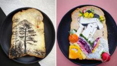 Diseñadora japonesa convierte tostadas en obras de arte —El cierre inspira creatividad en el desayuno