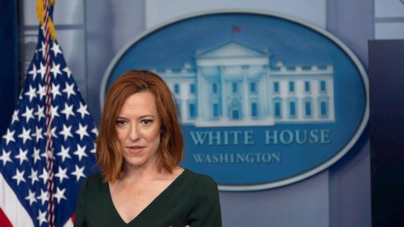 La portavoz de la Casa Blanca, Jen Psaki, habla en conferencia de prensa en Washington, (EE. UU.), 3 de junio de 2021. (EFE/EPA/Chris Kleponis/Pool)