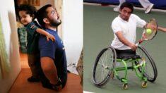 """Cayulef, tenista chileno con discapacidad además de deportista es un gran papá: """"Es un amor infinito"""""""