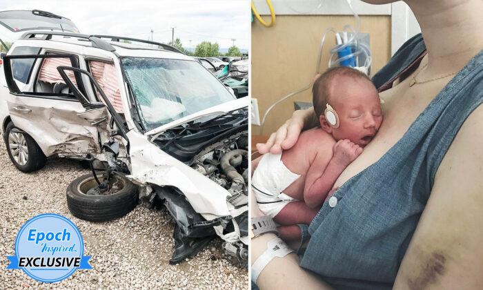 """Mujer sobrevive a accidente y da a luz a su bebé camino al hospital: """"Nunca dejaré de estar agradecida"""""""