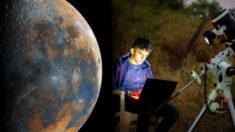 Joven de 16 años crea una increíble imagen de la Luna con más de 50,000 fotografías