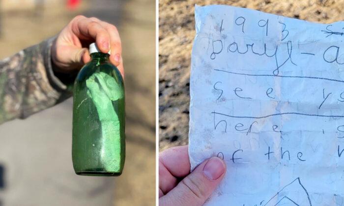 Carta intacta de hace 30 años aparece dentro de una botella en un lago de Canadá