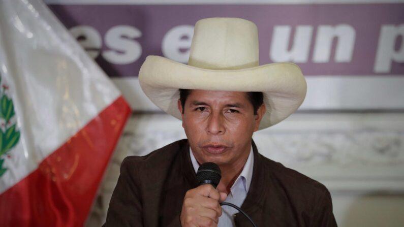 En la imagen, el presidente electo de Perú,Pedro Castillo. (EFE/Paolo Aguilar/Archivo)
