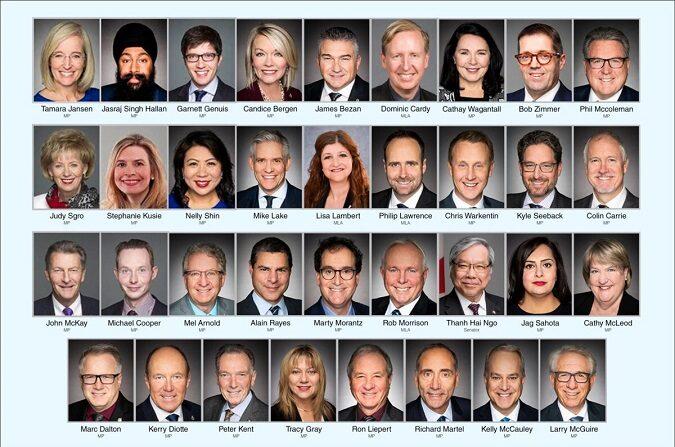 Los 35 legisladores que firmaron una carta conjunta dirigida al primer ministro Justin Trudeau en la que se instan a sancionar a los funcionarios chinos que desempeñan un papel importante en la persecución a los practicantes de Falun Gong en China. El régimen chino lanzó la campaña de persecución el 20 de julio de 1999.