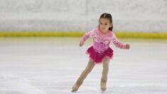"""Niña prodigio aprende a patinar desde los 2 años:  """"Está decidida a alcanzar sus metas"""""""
