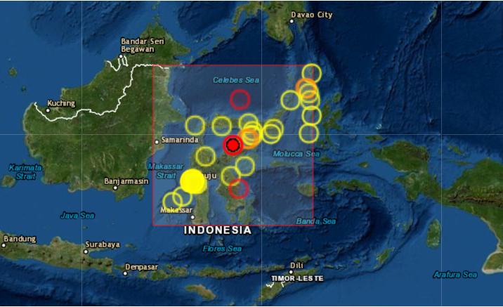 Un seísmo de magnitud 6.2 sacude las islas Célebes, en Indonesia