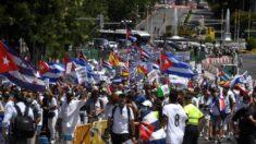 Exilio cubano marcha en Madrid en apoyo a las protestas en la isla