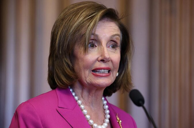 La presidenta de la Cámara de Representantes Nancy Pelosi (D-Calif.) el 21 de julio de 2021 en Washington, DC. (Anna Moneymaker/Getty Images)