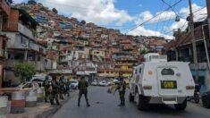 Policía del régimen venezolano comienza operativo en barriada de Caracas tras 18 horas de tiroteo