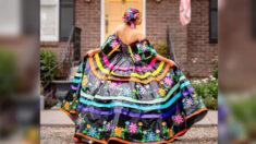 Joven fabrica vestido de graduación con cinta adhesiva y gana beca de USD 10,000